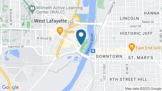 Hampton Inn & Suites West Lafayette Map