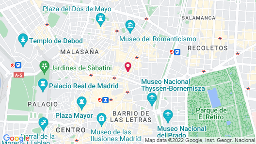Room Mate Óscar Map
