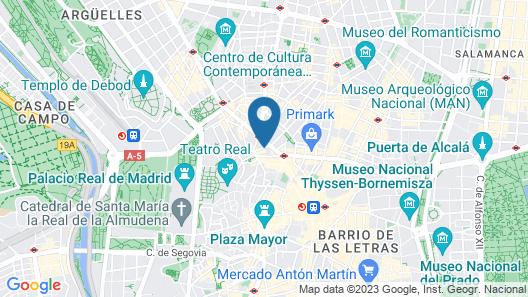 Hotel Indigo Madrid - Gran Via Map