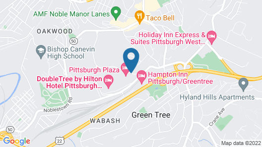 Pittsburgh Plaza Hotel Map