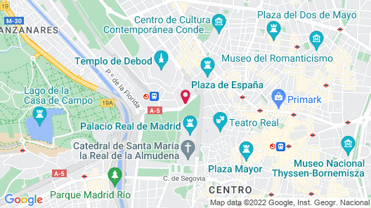 Apartosuites Jardines de Sabatini Map