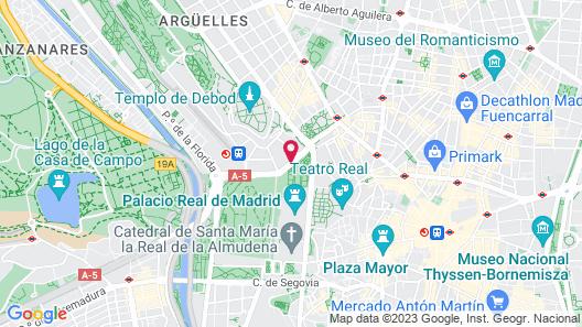 Hotel Principe Pio Map