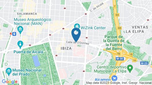 Novotel Madrid Center Map