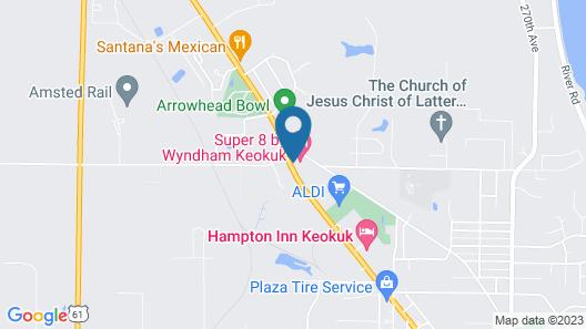 Super 8 by Wyndham Keokuk Map