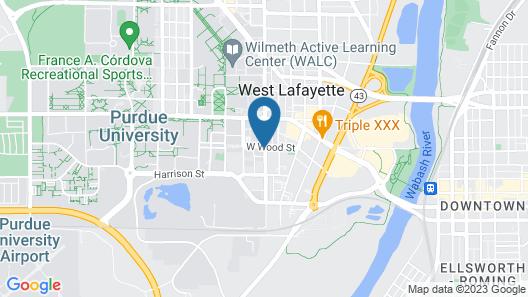 Union Club Hotel at Purdue University Map