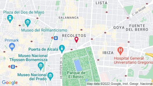 Wellington Hotel & Spa Madrid Map