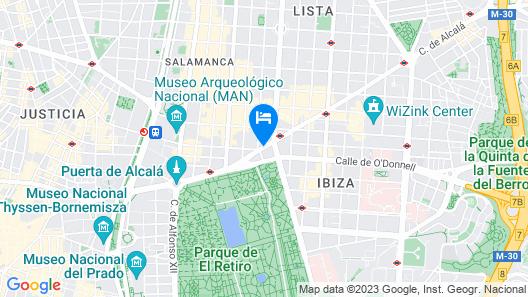 H10 Puerta de Alcalá Map