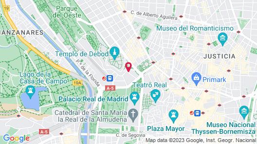Plaza de España Skyline Map