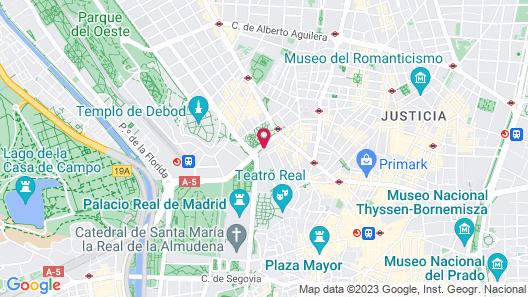 Espahotel Plaza de España Map