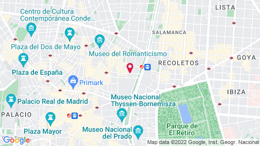 60 Balconies Recoletos Map