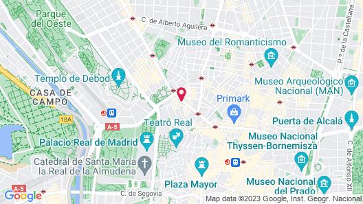 Espahotel Gran Via Map