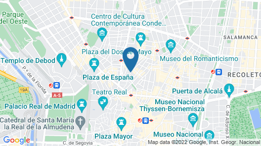 Hotel Life Gran Via Map