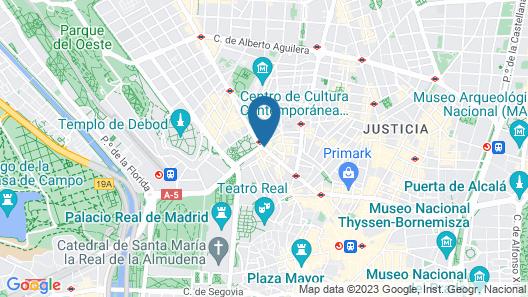 Dear Hotel Madrid Map