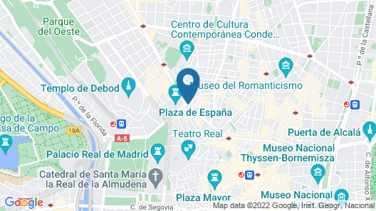 Dear Hotel Madrid Map