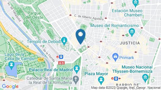 Feelathome Madrid Suites Apartments Map