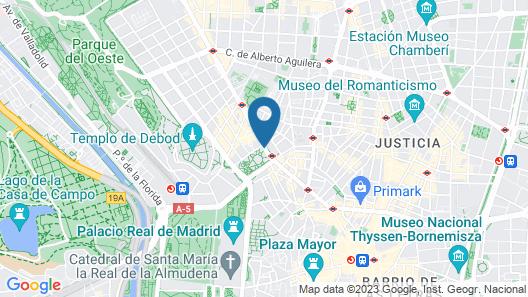 Hotel Riu Plaza España Map