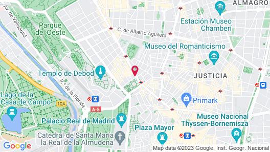 Barceló Torre de Madrid Map