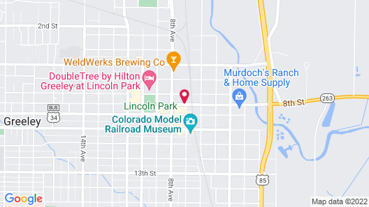 Clarion Hotel and Conference Center Greeley Downtown Map