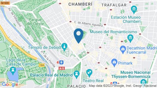 Mercure Madrid Plaza de España Map