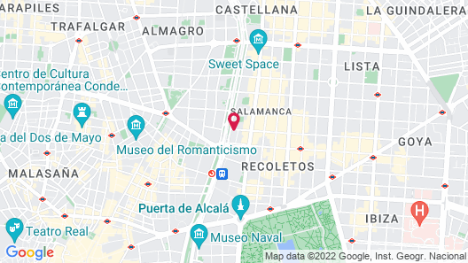 Hotel Fenix Gran Meliá - The Leading Hotels of the World Map