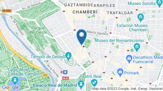 Melia Madrid Princesa Map