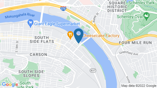 HYATT house Pittsburgh-South Side Map