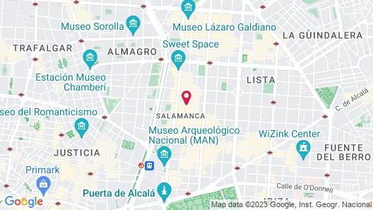 Hotel Único Madrid - Small Luxury Hotels Map