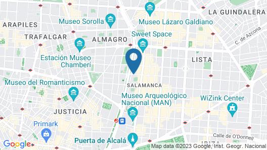 Petit Palace President Castellana Map