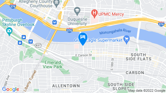 Holiday Inn Express Hotel & Suites Pittsburgh-South Side, an IHG Hotel Map