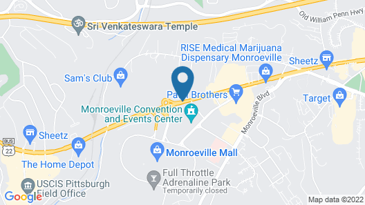 Courtyard by Marriott Pittsburgh Monroeville Map