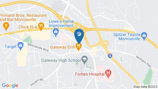 Rodeway Inn & Suites Monroeville-Pittsburgh Map