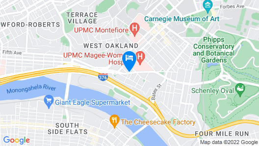 Hampton Inn Pittsburgh University/Medical Center Map
