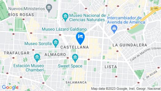 Melia Madrid Serrano Map