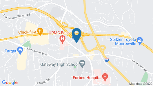 Best Western Monroeville Pittsburgh East Map