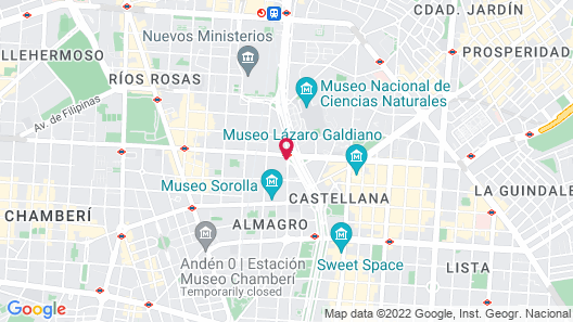 Hotel Miguel Angel Map