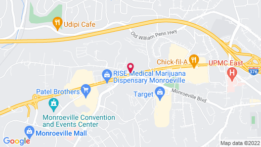 Extended Stay America Pittsburgh - Monroeville Map
