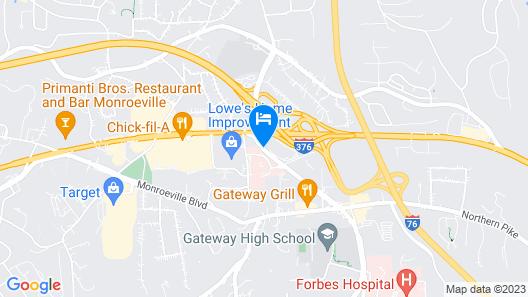 Hampton Inn Pittsburgh/Monroeville Map