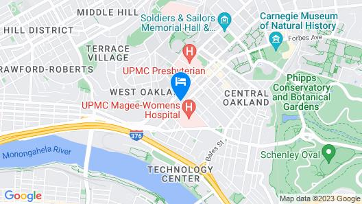 Residence Inn Pittsburgh Oakland/University Place Map