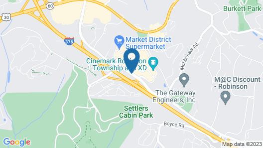 Hampton Inn & Suites Pittsburgh Airport South/Settlers Ridge Map