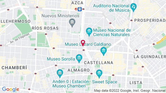 Hyatt Regency Hesperia Madrid Map