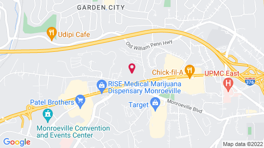 Extended Stay America Suites Pittsburgh Monroeville Map