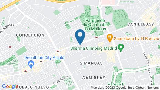 Hotel Elba Madrid Alcalá Map