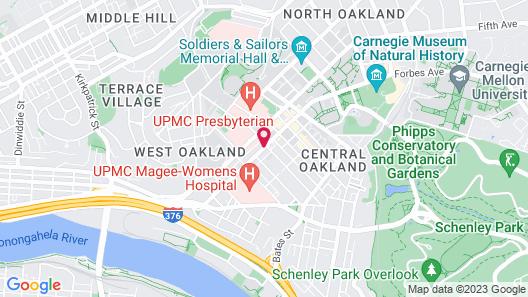 Hilton Garden Inn Pittsburgh University Place Map