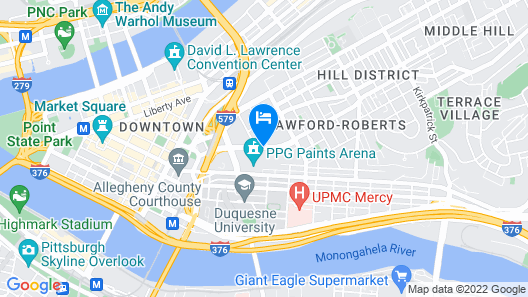 Cambria Hotel Pittsburgh - Downtown Map