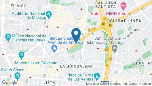 Hotel Puerta América Map