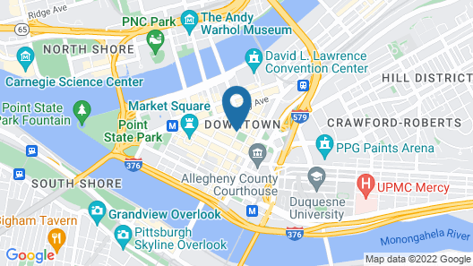 Embassy Suites By Hilton Pittsburgh Downtown Map