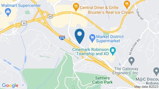 Courtyard Pittsburgh Airport Settlers Ridge Map