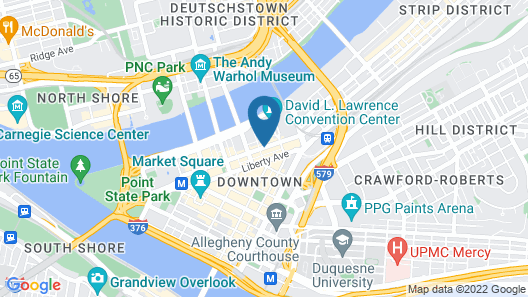 Courtyard by Marriott Pittsburgh Downtown Map
