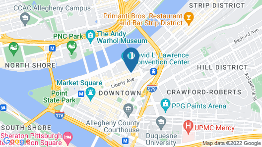 The Westin Pittsburgh, a Marriott Hotel Map