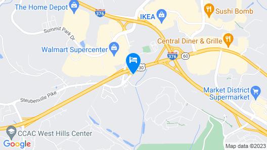 Quality Inn Pittsburgh Airport Map